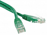 Патч-корд UTP, Cat.5е, LSZH, 1 м, зеленый, Hyperline PC-LPM-UTP-RJ45-RJ45-C5e-1M-LSZH-GN